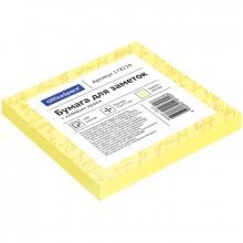 Самоклеящийся блок OfficeSpace, 75*75мм, 100л, желтый
